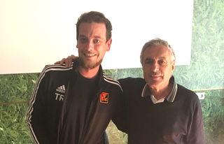 Sascha Stocker beim Interviewtraining mit ORF-Legende Hans Huber.
