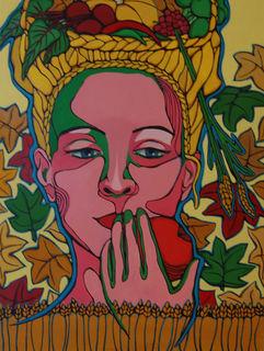 Die Kopfingerin Petra Rader malt in einem eigens angemieteten Atelier in Andorf.