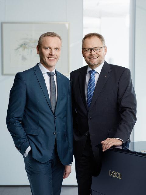 Josef Stockinger und Finanzvorstand Othmar Nagl (l.).