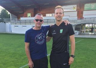 Ladi Meier wurde von Sektionsleiter Salchinger (li) als neuer Ilz Coach vorgestellt.