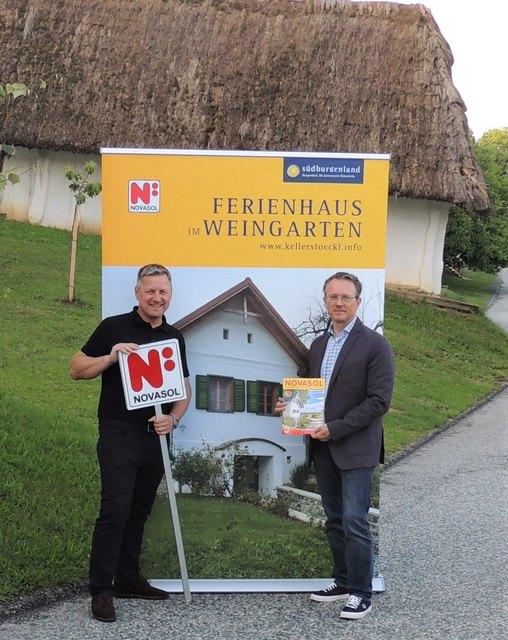 Rainer Karbon und Harald Popofsits warben in Dresden.