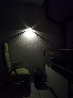 ...setze ich mich auf meinen Balkon und genieße die Stille!