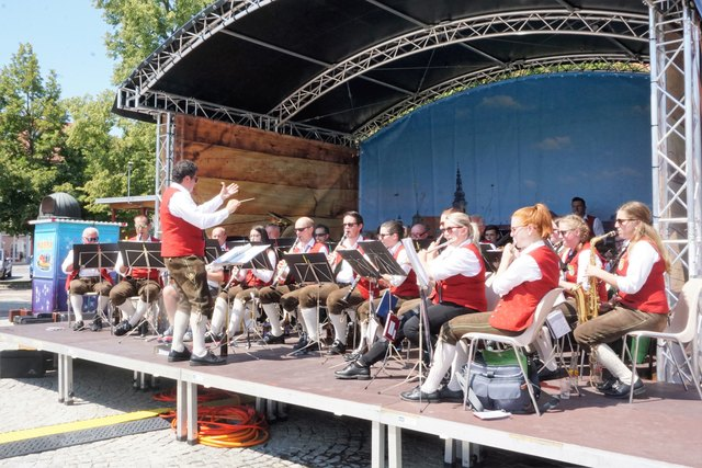 Der Musikverein Söchau eröffnete den Reigen der Fürstenfelder Hauptplatzkonzerte in diesem Sommer.