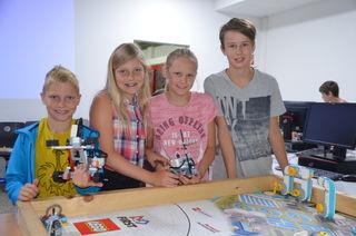 """Die jungen Programmierer und Roboterbauer hatten einen riesen Spaß im """"i.ku""""-Camp."""