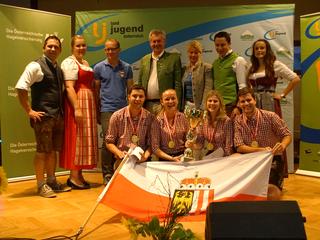 Die Bundessieger im 4er-Cup – das Team der Landjugend Meggenhofen.