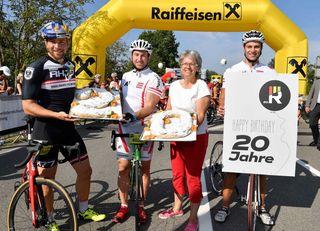 Wachauer Radtage v.l.: Benjamin Karl, Mac Digruber, Sportlandesrätin Petra Bohuslav, Christoph Krenn