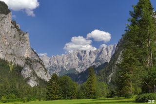 GROSSANSICHT  -  Orografisch rechte Ennsseite - Planspitze, Hochtor und Ödstein  -  zum Wandern, Klettern und Bergsteigen im Nationalpark Gesäuse