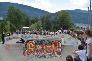 Lässiger Contest und relaxte Fete am Wörgler DIY-Skatepark