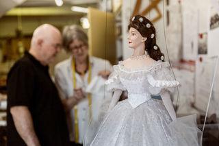 Die in der Werkstatt des Marionettentheaters Schloss Schönbrunn gefertigte Sisi-Figur