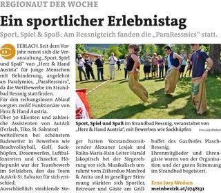 WOCHE Klagenfurt / WOCHE Klagenfurt Land KW 29 - Erna Jury-Wedam Link zum Beitrag: https://www.meinbezirk.at/2748131