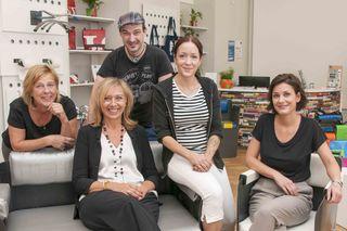 """Das""""gabarage"""" Team - v.l: Susanne, Gabriele Gottwald-Nathaniel (Obfrau) Markus, Daniela & Sonja"""