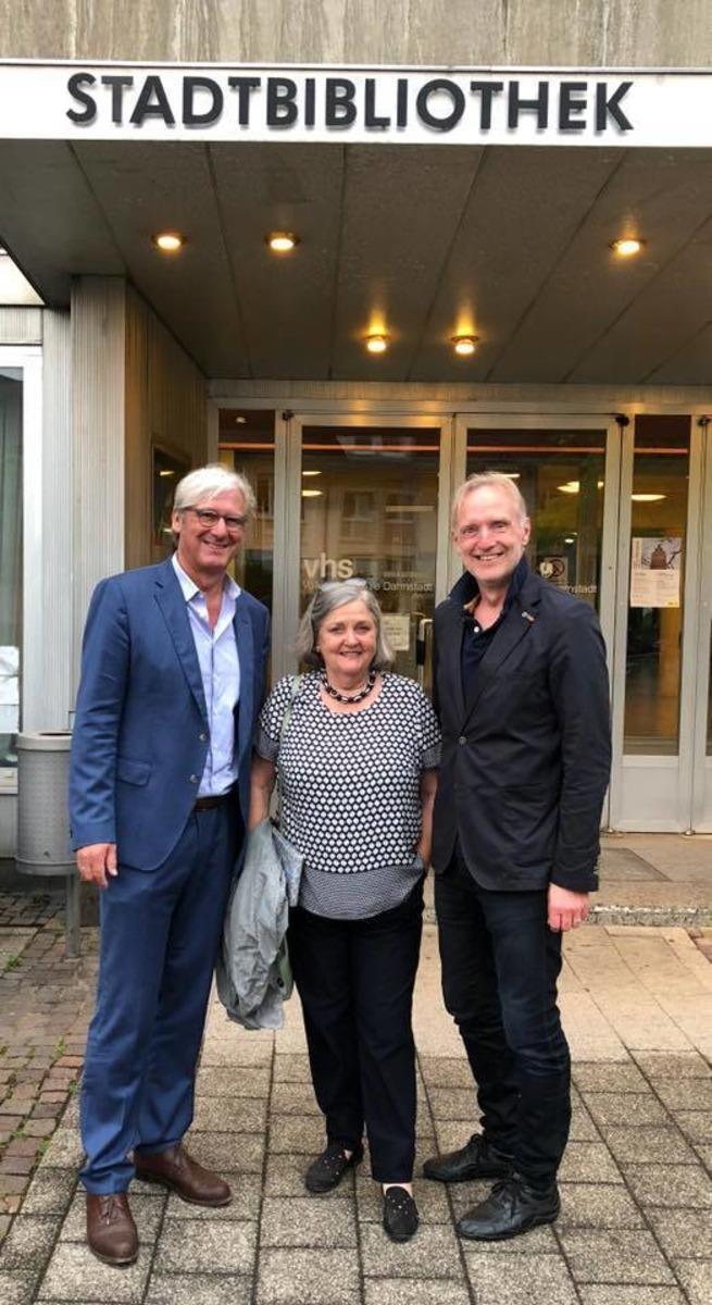 Besuch in Darmstadt: G. Riegler (r.) wurde im Juni empfangen.