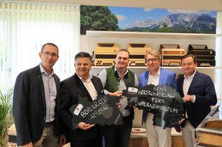 V.l.n.r.: Stefan Helmreich, Michael Hohl, Franz Schmidt, Josef Herk, Kurt Egger