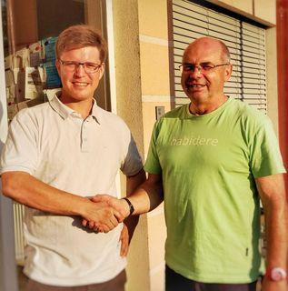 Nikolaus Bösch-Weiss (l.) übernimmt das Amt des Vizebürgermeisters von Helmut Triebl.