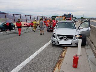 Bei einem Verkehrsunfall auf der A1 Westautobahn wurde ein Mann schwerverletzt.