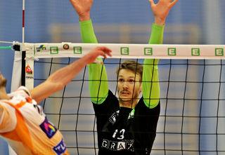 Zurück in Graz: Nationalspieler Lorenz Koraimann blockt künftig wieder für seinen Jugendverein.