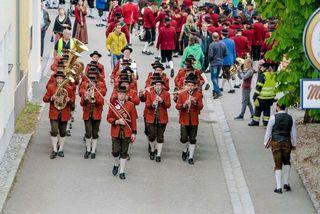 Marschwertung am Bezirksmusikfest in Geiersberg
