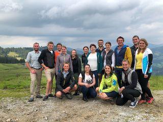 Der Bezirksausschuss der TJBLJ auf der Wildschönauer Holzalm