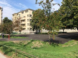 Aufgrund der Sanierungsarbeiten im Goethehof wurde auch der Parkplatz gesperrt.
