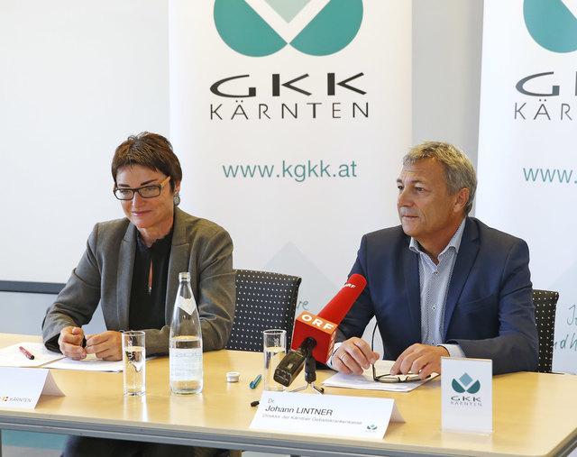 """LHStv. Beate Prettner und KGKK Direktor Johann Lintner kritisieren """"Ausgabenbremse"""" im Gesundheitsbereich."""