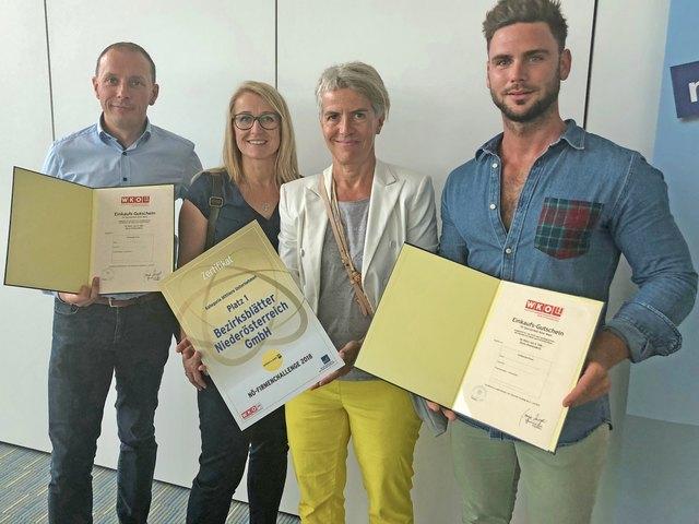 V.l.: Ewald Schnell, Rosemarie Hahn, Gabi Stockmann, Manuel Dornhackl