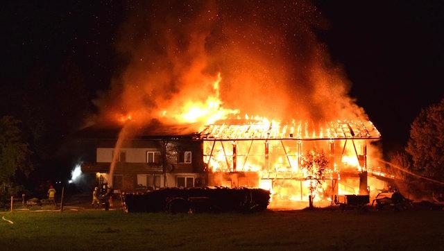 Der Brand bei einem Bauernhof in Erpfendorf war der größte Schadensfall der Serie.