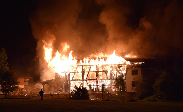 Der Schwabenhof stand in der Nacht zum 1. Juli in hohen Flammen.