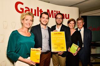 Die Brüder Bernhard und Stefan Schauer (2. und 3. von links) wurden unter anderem vom Gault Millau ausgezeichnet.