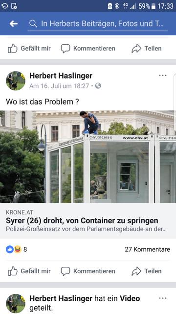 """""""Wo ist das Problem"""". hat Haslinger gepostet."""