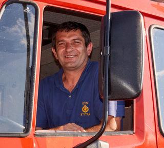 Mit großer Dankbarkeit übernahmen die Kroaten das Feuerwehrauto