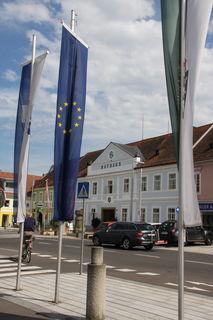 In Feldbachs Innenstadt ist die große Verbundenheit zur Europäischen Union auch ganz klar ersichtlich.
