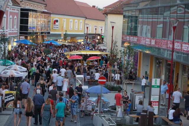 Einen abendlichen Einkaufsbummel mit Genussfaktor in Fürstenfeld gibt es noch am 26. Juli sowie am 2. und 9. August.