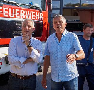 Bürgermeister Wagner und Koordinator Peter Logar