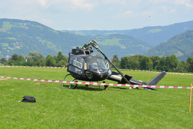 Der Pilot aus dem Bezirk Völkermarkt zog sich leichte Verletzungen zu