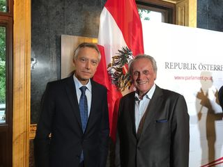 Josef Höchtl mit Jan Figel (=Special Envoy for the promotion of freedom of religion or belief outside the European Union)