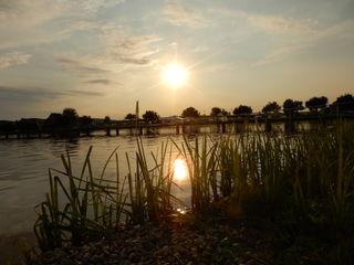 Heutiger Sonnenuntergang im Badeteich von Rauchwart