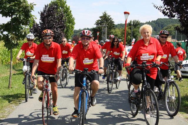 Die SPÖ-Radtour führte von Bocksdorf über Rauchwart, St. Michael, Deutsch Tschantschendorf und Güssing nach Kleinmürbisch.