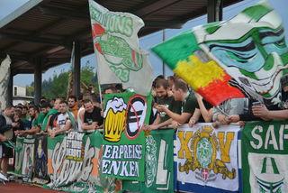 So viel Fan-Engagement wie von den Rapid-Fans hat Kufsteins Stadion seit Langem nicht mehr erlebt.