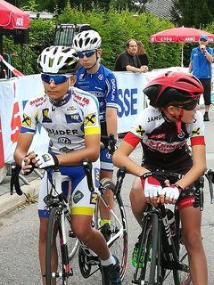 Voll fokussiert ist Clemens beim Start eines jeden Rennens.