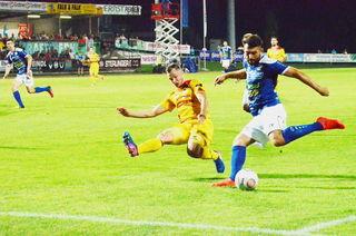 """Der zweifache Torschütze Dario Tadic war der """"Vater des Cuperfolgs""""."""