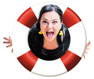 Marion Petric ist mit ihrem Programm Fisch Grete am falschen Dampfer in Gamlitz zu Gast.