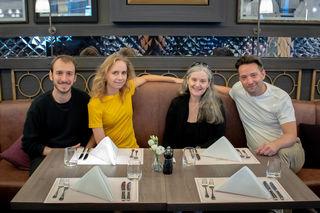 Theater-Team: Thomas Marchart, Katharina von Harsdorf, Regisseurin Elisabeth Biedermann und Christian Kainradl.