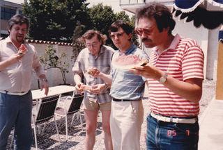 Jause: Christian Faltl, Josef Hader, Paul Vécsei und Andreas Wollinger (v.l.n.r.).