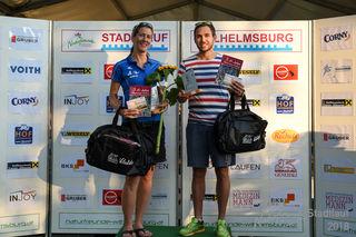 Sieger über fünf Kilometer: Anita Hollaus und Günter Kofler.