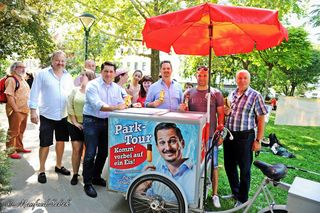 Parktour im Sommer mit Gratis-Eis