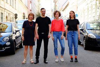 Auf 'ne Limo: Lene Benz, Adrian Judt, Susanne Mariacher und Helene Schauer (v.l.n.r.).
