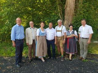 Langer-Weninger (3.v.l.) mit Wiesinger, Daxinger, Hammerl, Feurhuber, Höllwarth-Kaiser und Dittlbacher (v.l.).