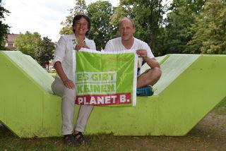 Das Duo an der grünen Bezirksspitze: Dorothea Gmeiner-Jahn und Heinz Wallner