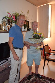 Herbert Brunsteiner begrüßt Martin Adam.