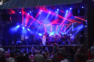 "Die Band ""Sofian Mustang"" begeisterte das Publikum im Wieselburger Schlosspark."